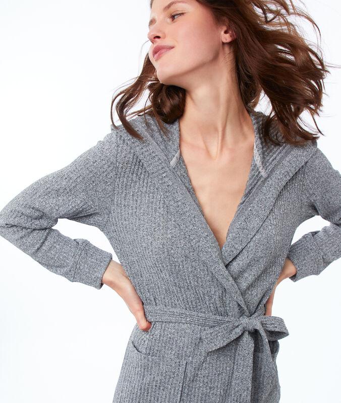 Nachthemd mit kapuze grau.