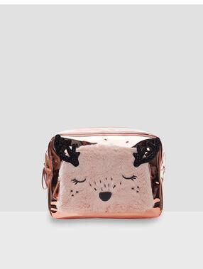 Kosmetiktasche animal rosa.