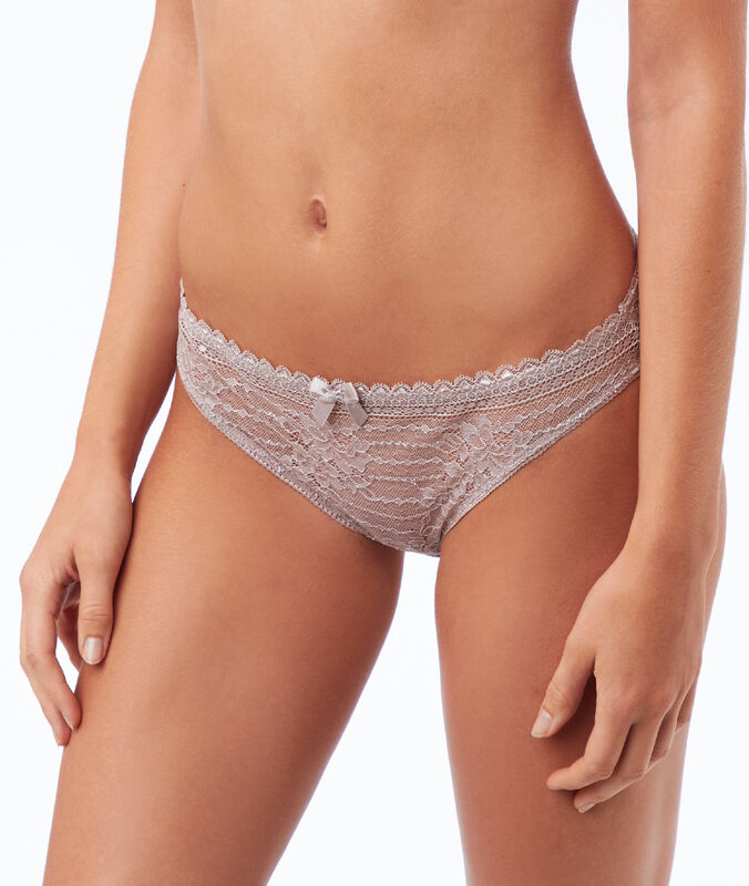 Panty aus spitze taupe.