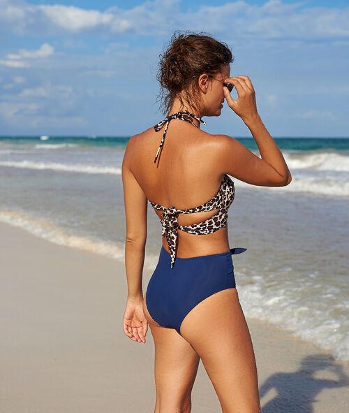 Bikiniunterteil mit hoher Taille, vorne zum Binden