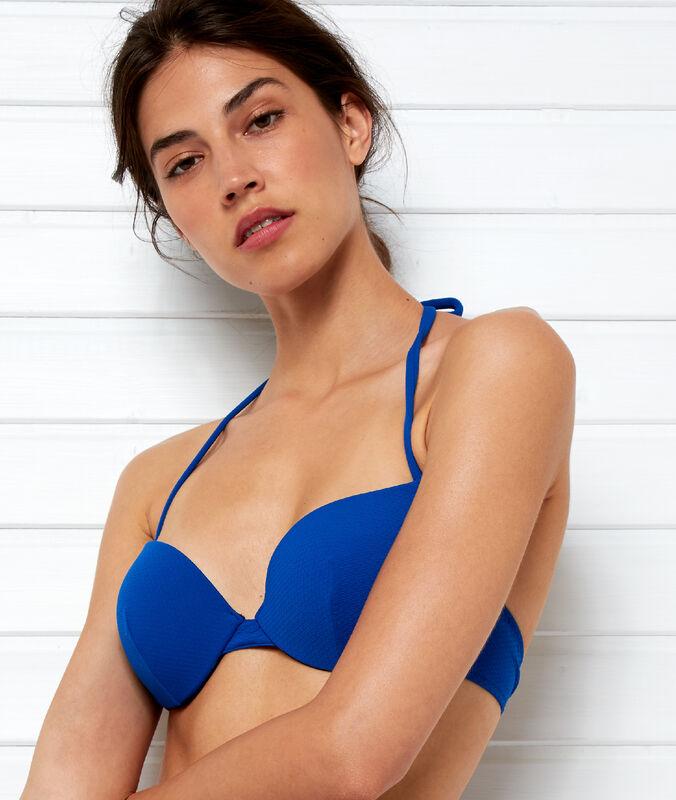 Bikinioberteil – push-up königsblau.