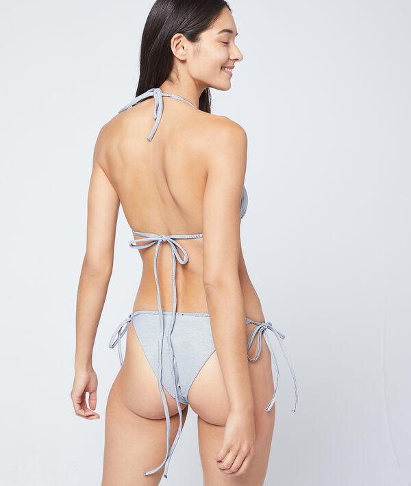 Bikinioberteil in Dreiecksform, strukturiert;${refinementColor}