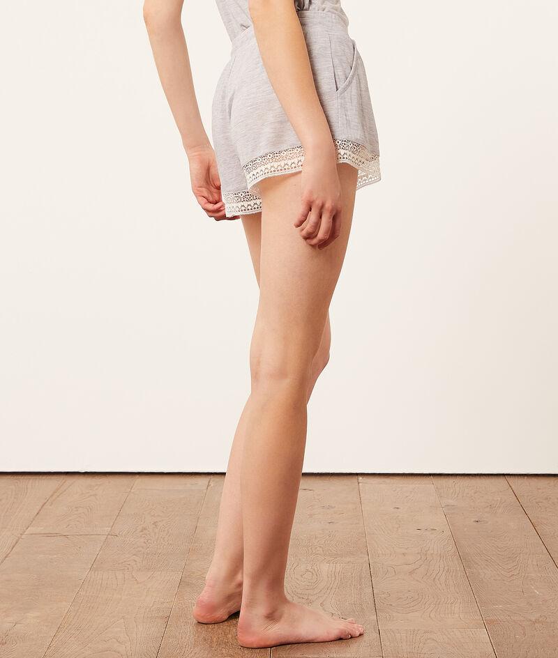 Shorts mit Spitzenkanten;${refinementColor}