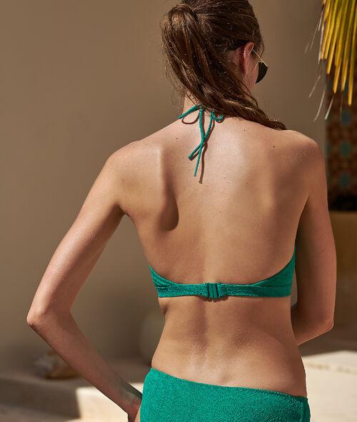 Bikinioberteil in Dreiecksform, durchbrochen