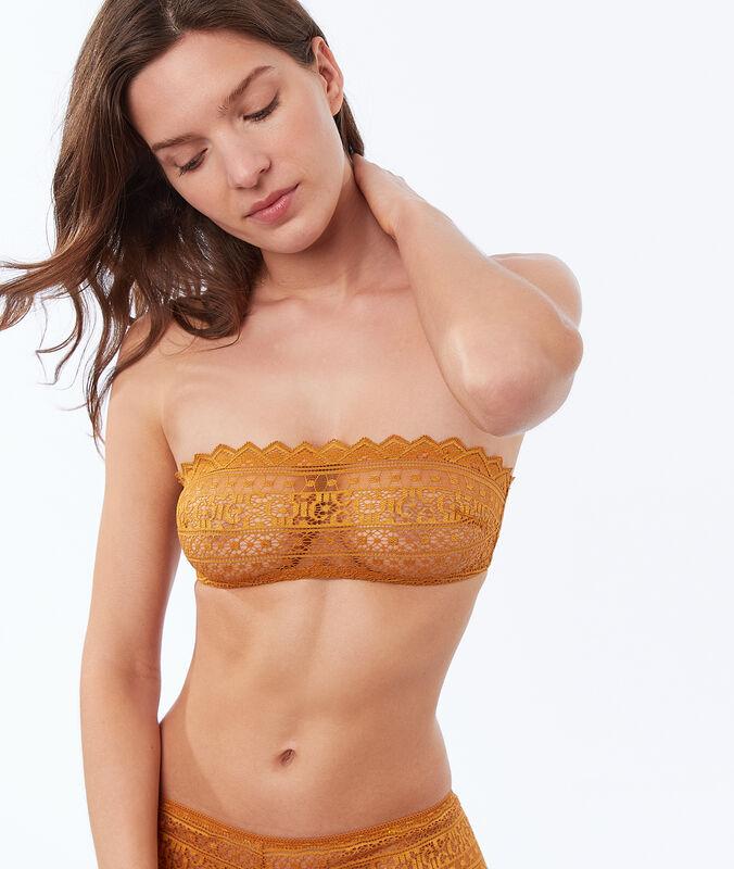 Bandeau aus grafischer spitze butterblume.