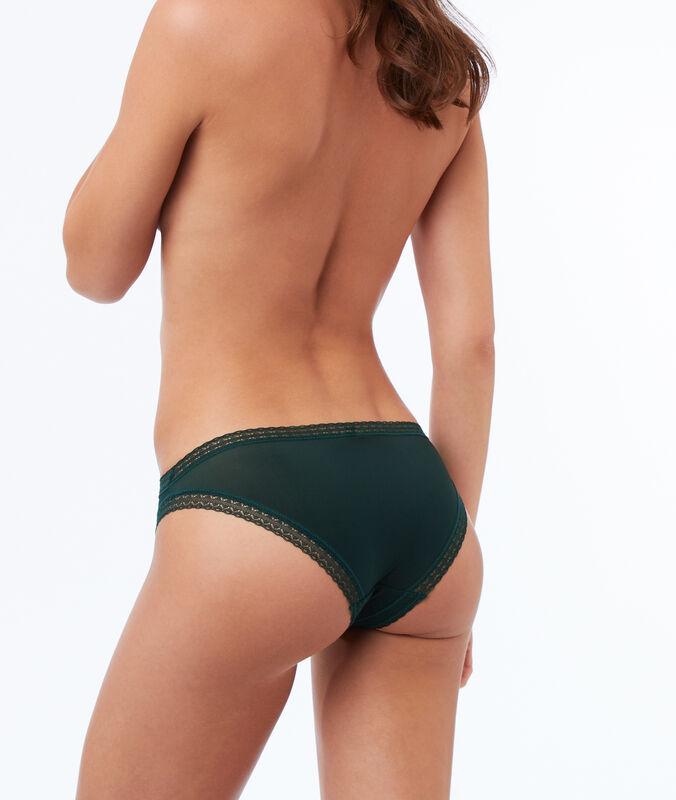 Panty aus materialmix grün.
