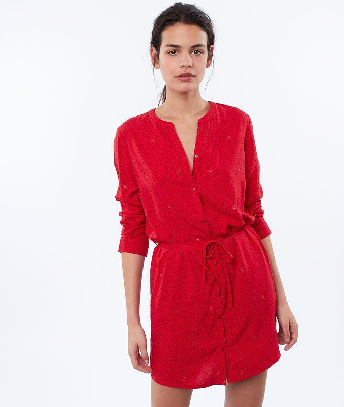 Nachthemd mit gürtel rot.