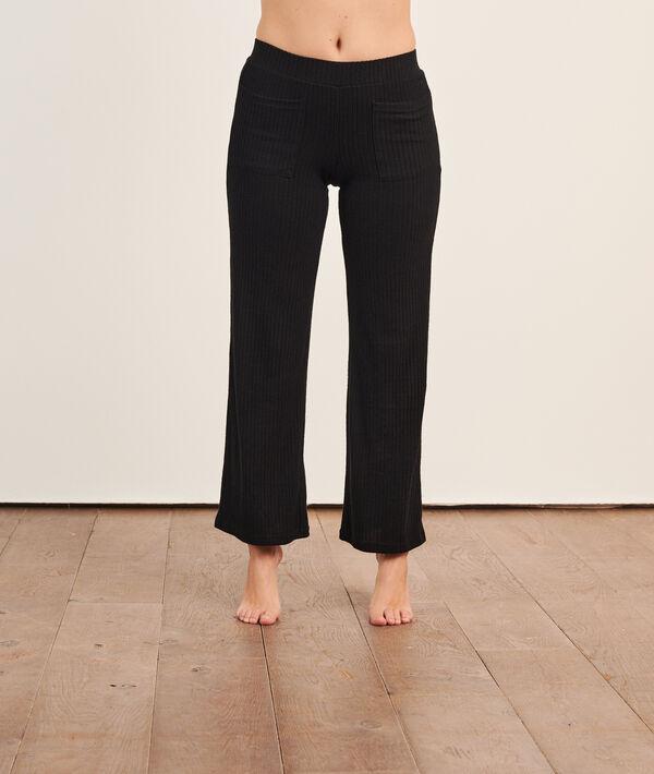 Gerippte Loungewear-Hose;${refinementColor}