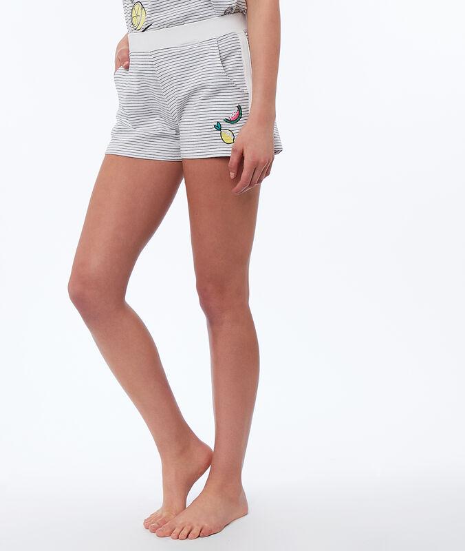 Shorts mit print weiss.