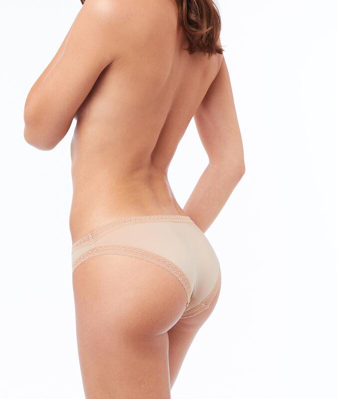 Panty aus materialmix hautfarben.