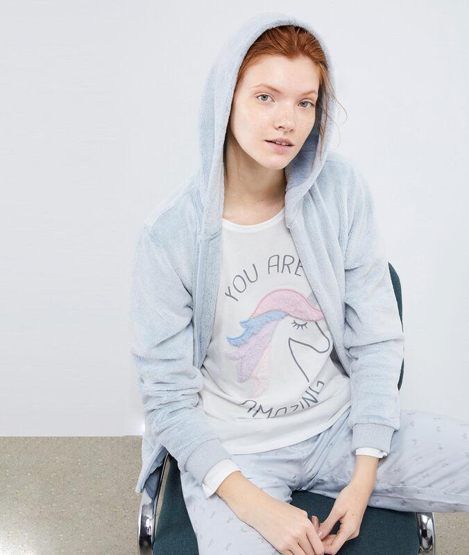 3-teiliger pyjama, einhorn-print himmelblau.