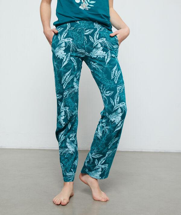 Hose aus Bio-Baumwolle mit Print;${refinementColor}