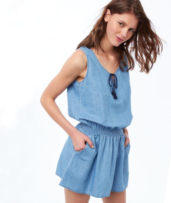 Verstellbares nachthemd blau.