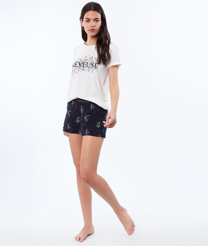Shorts mit print blau.