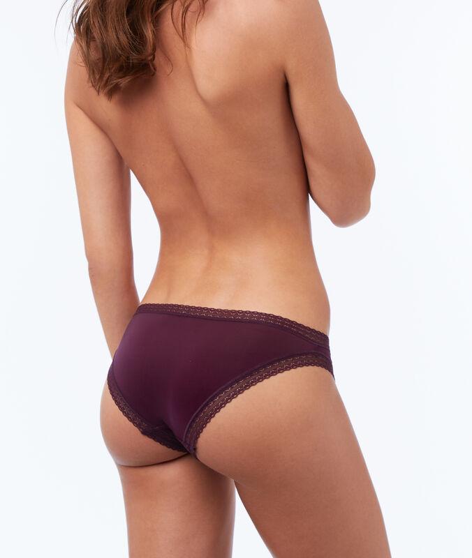 Panty aus materialmix violett.