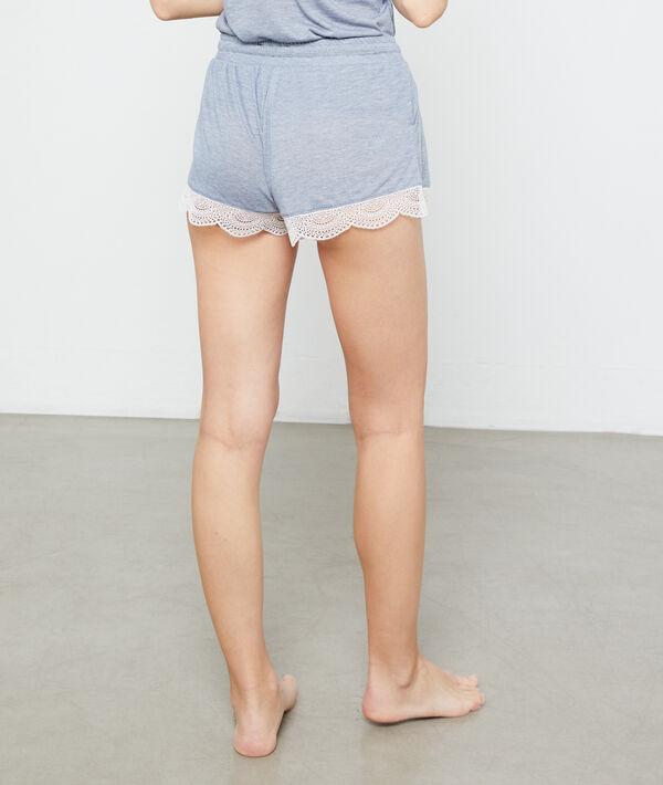 Shorts mit Spitzensäumen;${refinementColor}