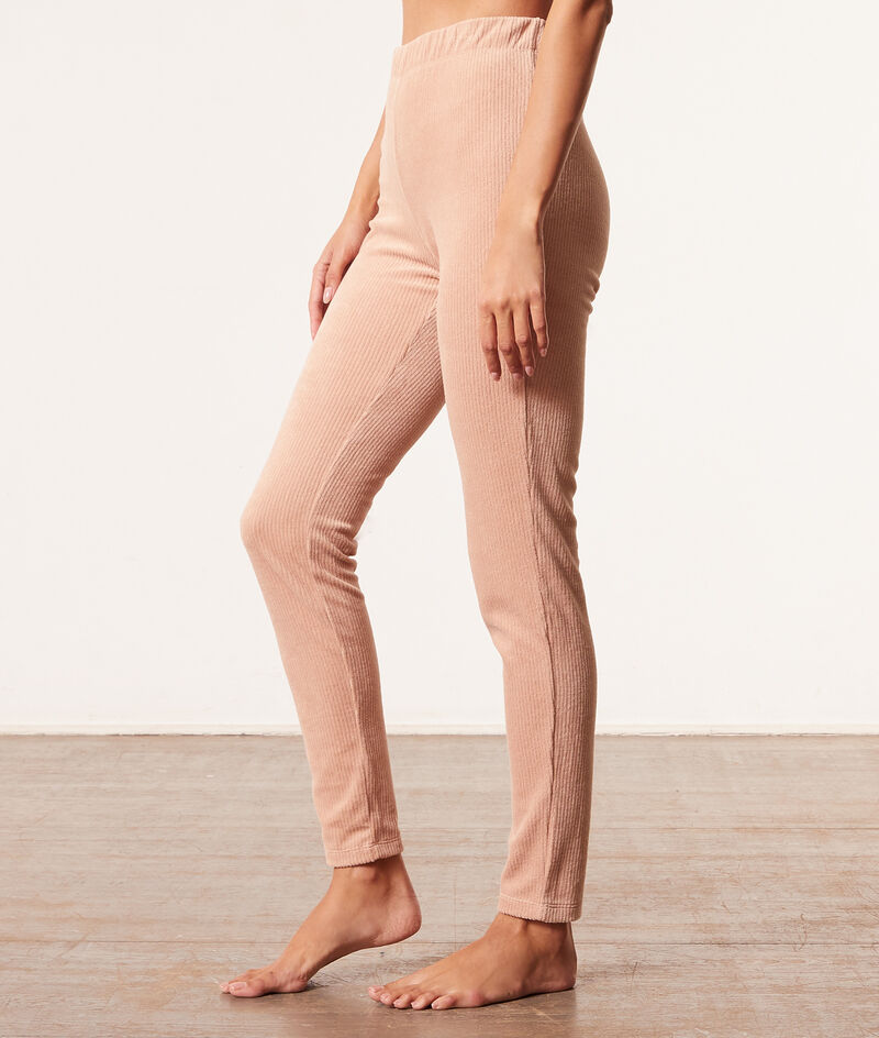 Pantalon de pyjama côtelé;${refinementColor}