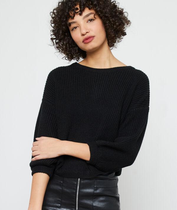 Pullover aus grobem Strick