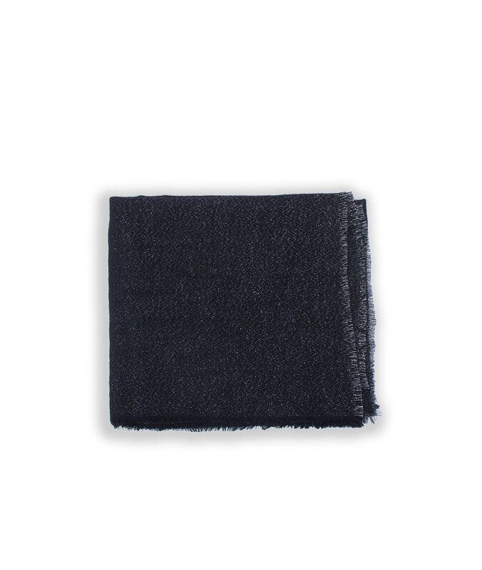 Plaid à fils métallisés noir.