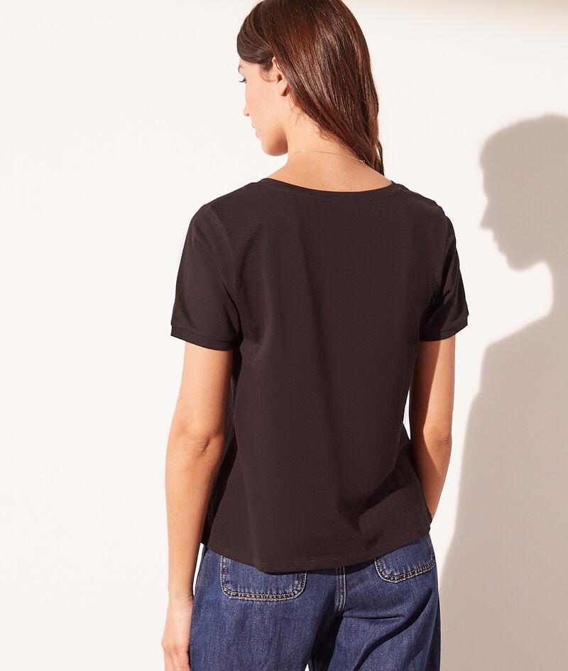 Basic-T-Shirt mit V-Ausschnitt