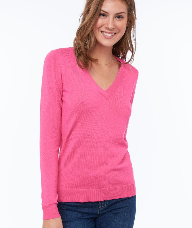 Pullover mit v-ausschnitt rosa.