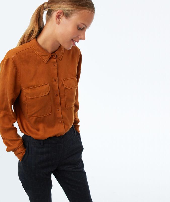 Bluse mit zwei taschen aus tencel® gerste.