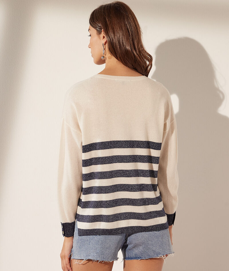 Pullover mit V-Ausschnitt aus Wolle und Kaschmir