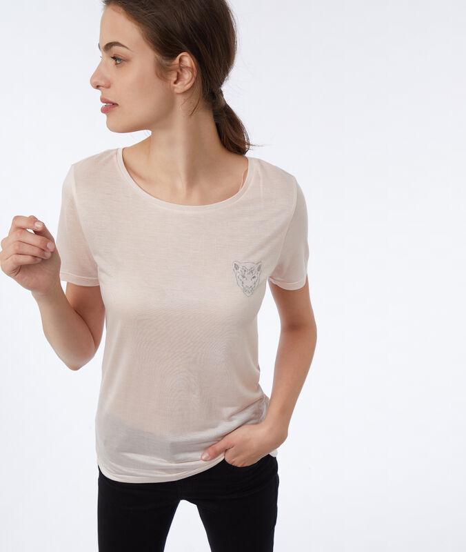 T-shirt mit stickerei nude.