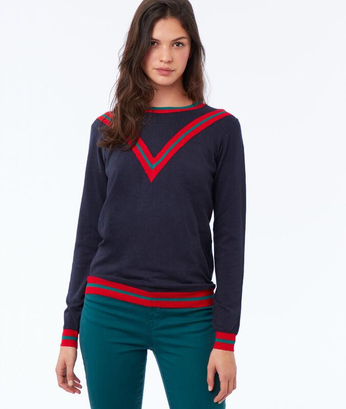Pullover aus viskose marine.
