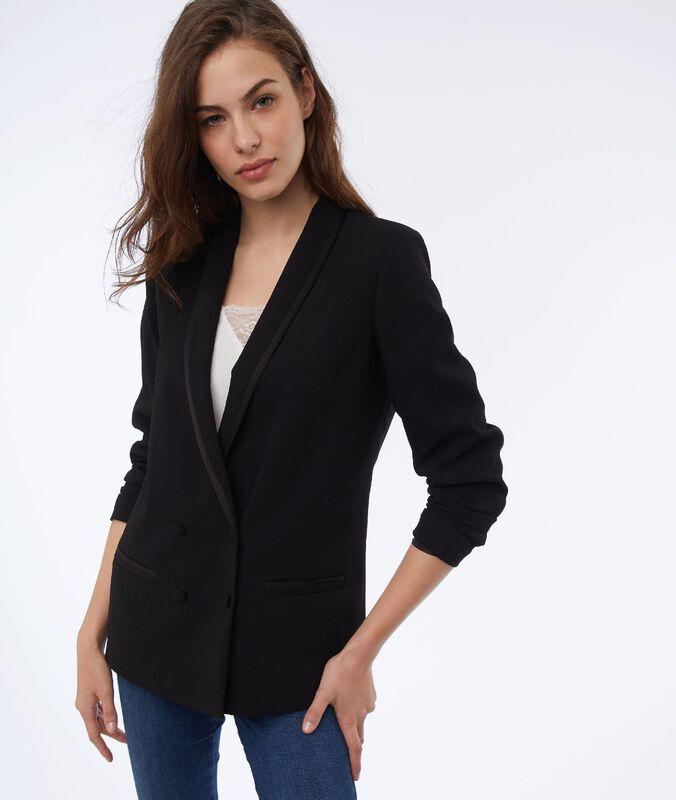 Jacke mit schalkragen schwarz.