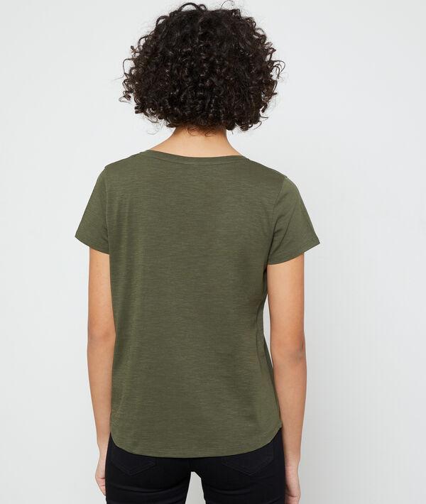 T-Shirt mit V-Ausschnitt aus Bio-Baumwolle