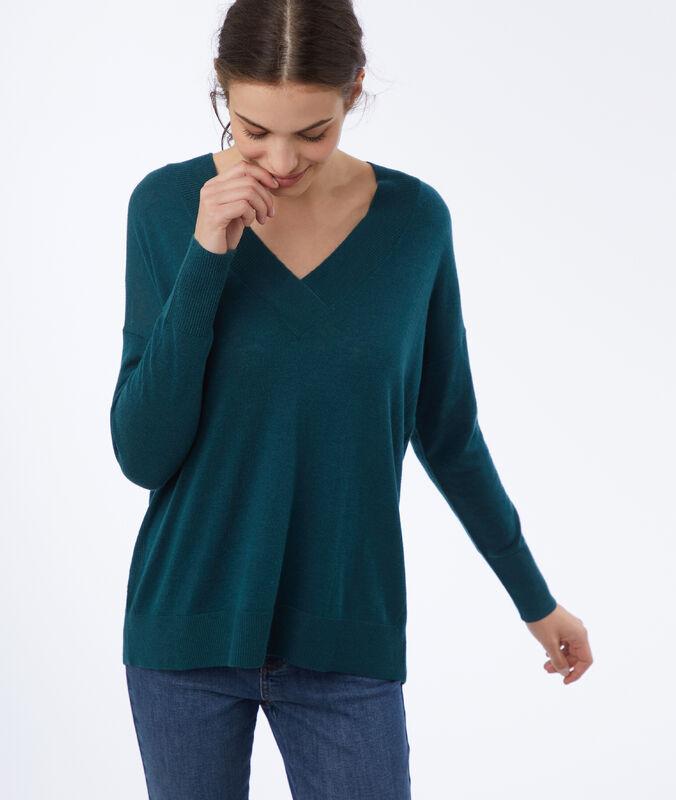 Pullover mit v-ausschnitt canard.