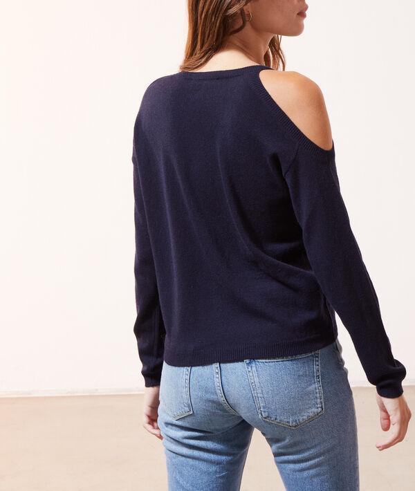 Pullover mit asymmetrischem V-Ausschnitt