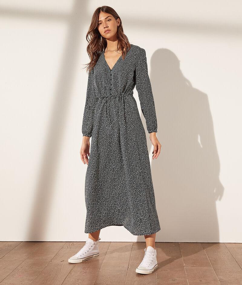 Langes Kleid mit Gürtel