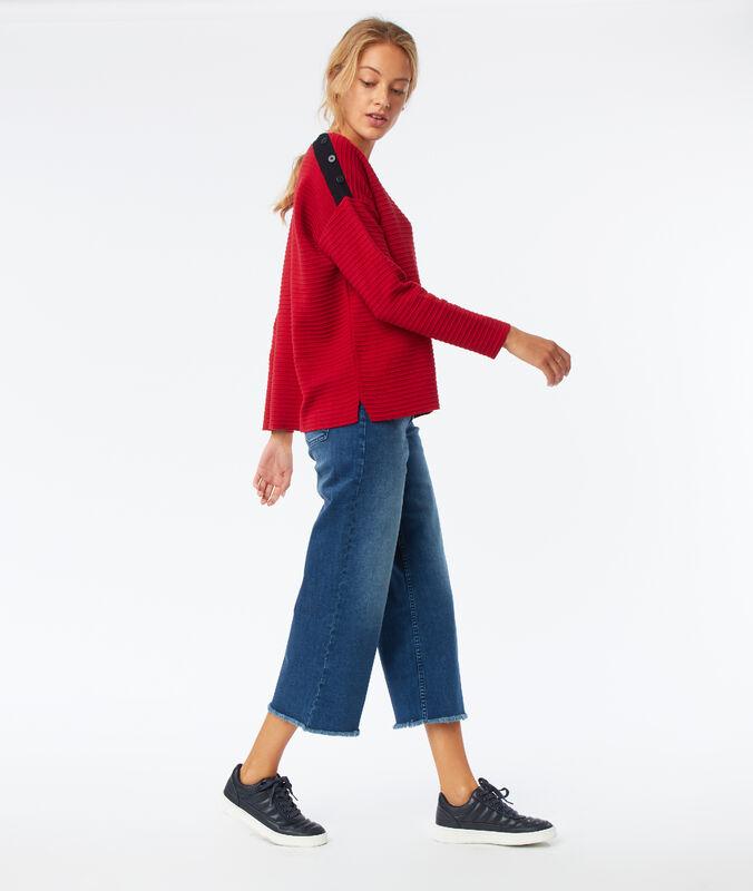 Weite jeans mit fransen stone.