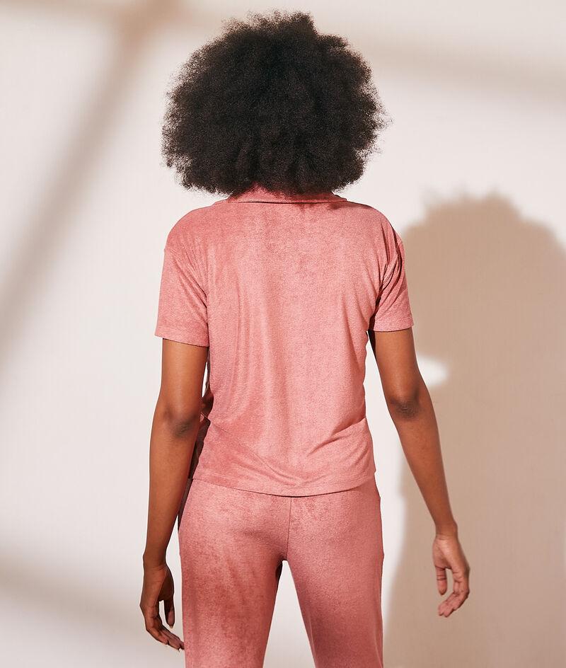 Hemd mit kurzen Ärmeln aus Frotteesamt