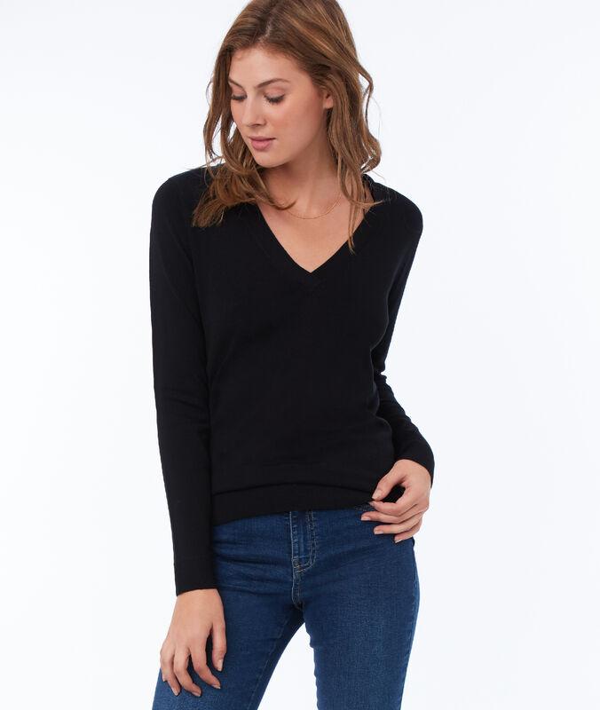 Pullover mit v-ausschnitt schwarz.