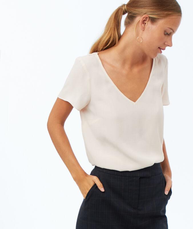 Bluse mit stickerei am rücken blassrosa.