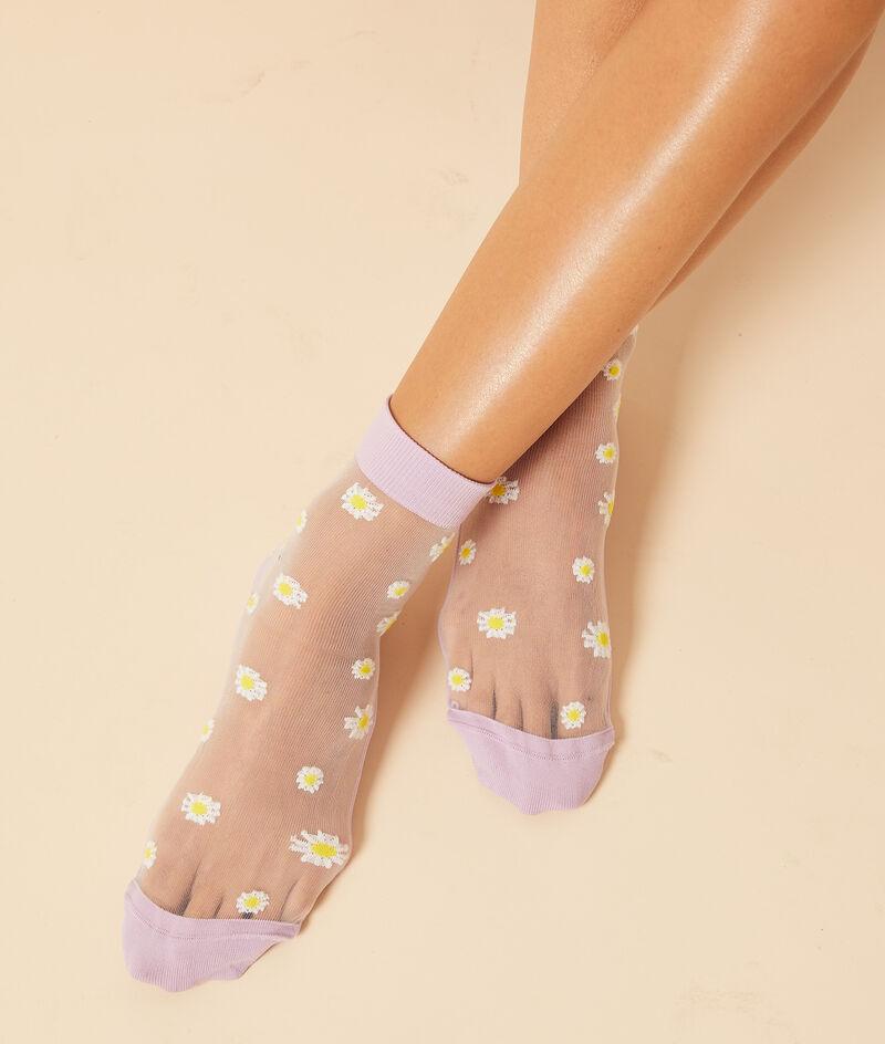 Modische Socken aus Tüll mit Gänseblümchenmuster