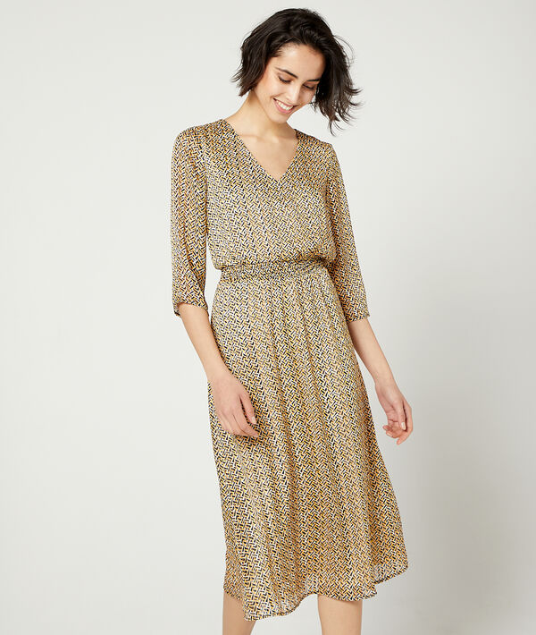 Langes gesmoktes Kleid