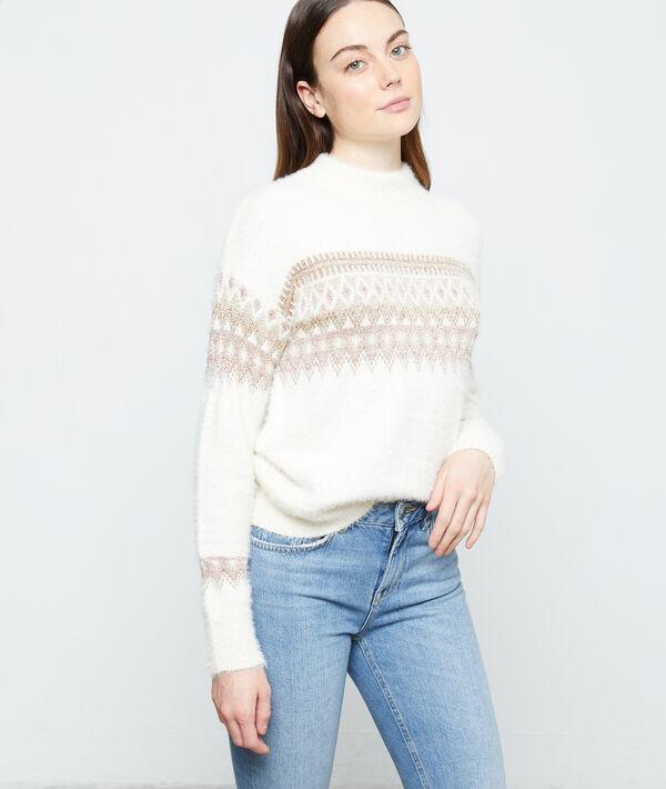 Pullover mit Jacquard-Muster aus flauschigem Strick