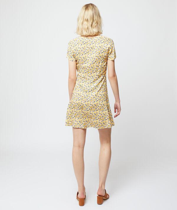 Fließendes Kleid mit floralem Print