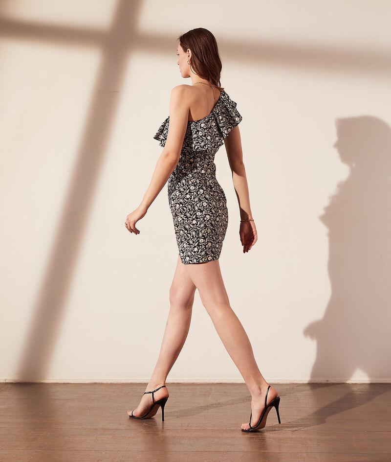 Asymmetrisches Kleid - Integrierter BH