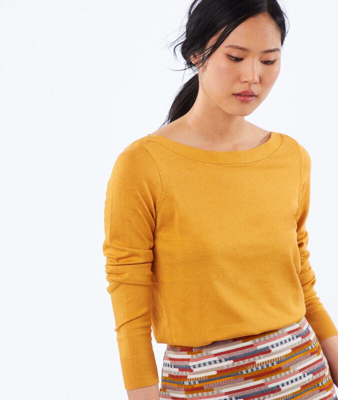 Pullover mit u-boot-ausschnitt honig.