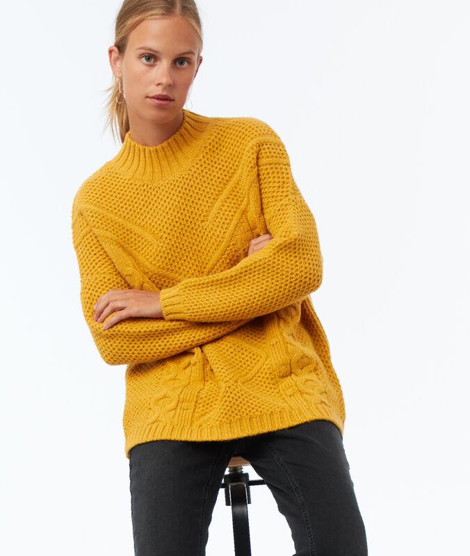 Pullover aus wolle honiggelb.