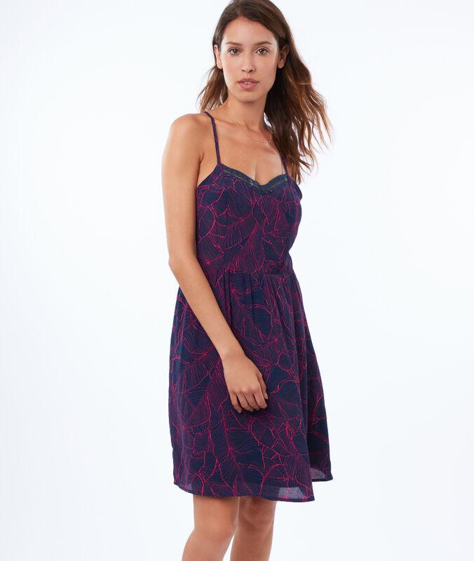 Kleid mit ringerrücken marineblau.