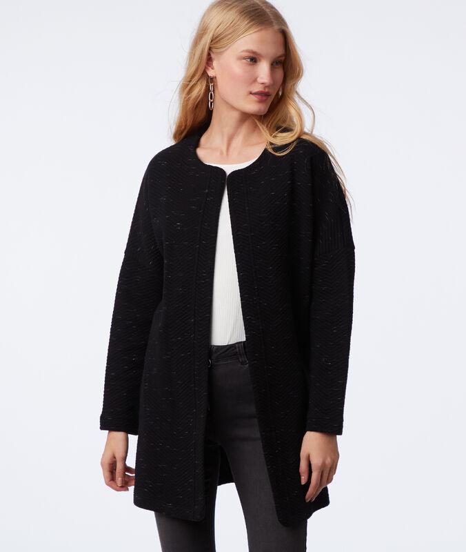 Jacke mit metallicfäden schwarz.