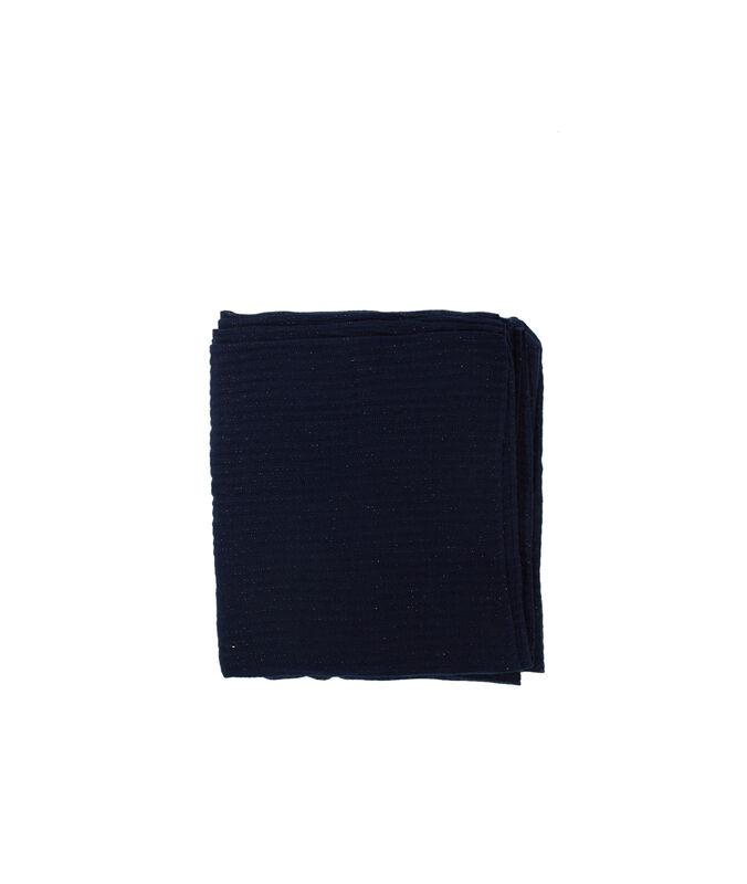 Schal mit metallic-fäden marineblau.
