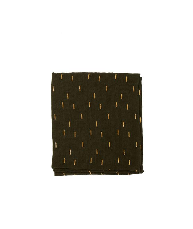 Schal mit print olive.