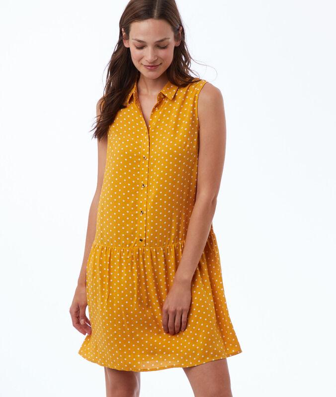 Kleid mit punkte-print honig.